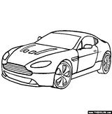 Imprimer le coloriage : Aston Martin, numéro 339305