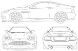 Imprimer le coloriage : Aston Martin, numéro 339308