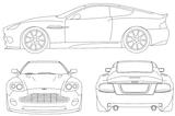 Imprimer le coloriage : Aston Martin, numéro 514182
