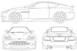 Imprimer le coloriage : Aston Martin, numéro 569925