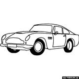 Imprimer le coloriage : Aston Martin, numéro 753643