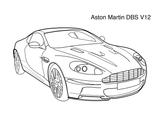 Imprimer le coloriage : Aston Martin, numéro d635e0f1