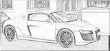Imprimer le coloriage : Audi, numéro 105501
