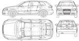 Imprimer le coloriage : Audi, numéro 105506