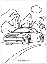 Imprimer le coloriage : Audi, numéro 1d51ef5a