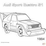 Imprimer le coloriage : Audi, numéro 446e3620