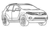 Imprimer le coloriage : Audi, numéro 61776