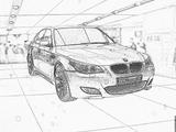 Imprimer le coloriage : BMW, numéro 105552