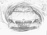 Imprimer le coloriage : BMW, numéro 105562