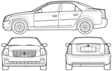 Imprimer le coloriage : Cadillac, numéro 105616