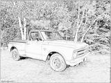 Imprimer le coloriage : Chevrolet, numéro 105833