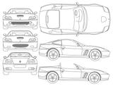 Imprimer le coloriage : Ferrari, numéro 148495