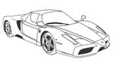 Imprimer le coloriage : Ferrari, numéro 180552