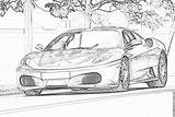 Imprimer le coloriage : Ferrari, numéro 53673