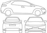 Imprimer le coloriage : Honda, numéro 104835