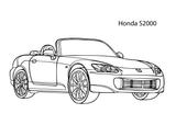 Imprimer le coloriage : Honda, numéro d2e7b52a