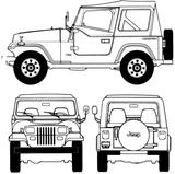 Imprimer le coloriage : Jeep, numéro 105902