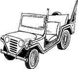 Imprimer le coloriage : Jeep, numéro 4704