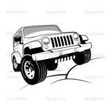 Imprimer le coloriage : Jeep, numéro 673919
