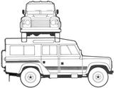 Imprimer le coloriage : Land Rover, numéro 105935