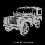 Imprimer le coloriage : Land Rover, numéro 105944