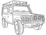 Imprimer le coloriage : Land Rover, numéro 105946