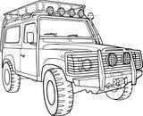 Imprimer le coloriage : Land Rover, numéro d77ed83f