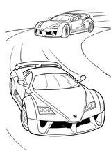 Imprimer le coloriage : Maserati, numéro 3817