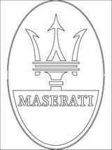 Imprimer le coloriage : Maserati numéro 459623