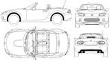 Imprimer le coloriage : Mazda, numéro 104994