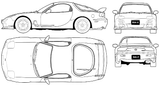 Imprimer le coloriage : Mazda, numéro 104996