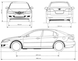 Imprimer le coloriage : Mazda, numéro 105004