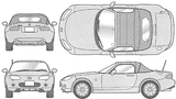 Imprimer le coloriage : Mazda, numéro 105008