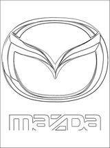 Imprimer le coloriage : Mazda, numéro 458751