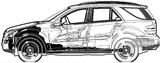 Imprimer le coloriage : Mercedes-Benz, numéro 106056