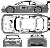 Imprimer le coloriage : Mercedes-Benz, numéro 106085