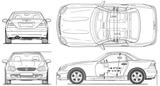 Imprimer le coloriage : Mercedes-Benz, numéro 106087