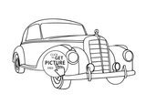 Imprimer le coloriage : Mercedes-Benz, numéro 36995ed7