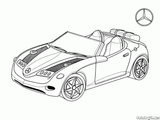 Imprimer le coloriage : Mercedes-Benz, numéro 5754866a