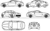 Imprimer le coloriage : Nissan, numéro 105111