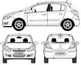 Imprimer le coloriage : Opel numéro 105120