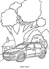 Imprimer le coloriage : Opel numéro 105123