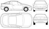 Imprimer le coloriage : Opel numéro 105128