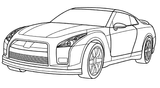 Imprimer le coloriage : Opel numéro 105156