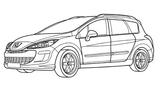 Imprimer le coloriage : Peugeot, numéro 105104