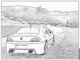 Imprimer le coloriage : Peugeot, numéro 105164