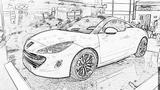 Imprimer le coloriage : Peugeot, numéro 105165