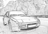 Imprimer le coloriage : Porsche, numéro 106190