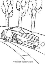 Imprimer le coloriage : Porsche, numéro 106192