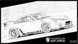 Imprimer le coloriage : Porsche, numéro 106214